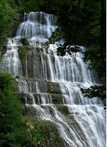 Cascades du Hérisson et lac de Chalain